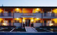 木造のアパート建築