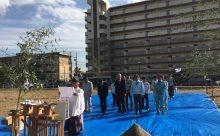 賃貸マンション鉄筋コンクリート造(RC造)9階81戸新築工事地鎮祭を行いました